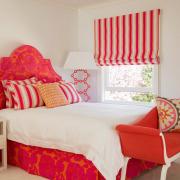Солнечная оранжевая спальня для девочки
