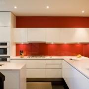 21ркая стеклянная стена на кухне
