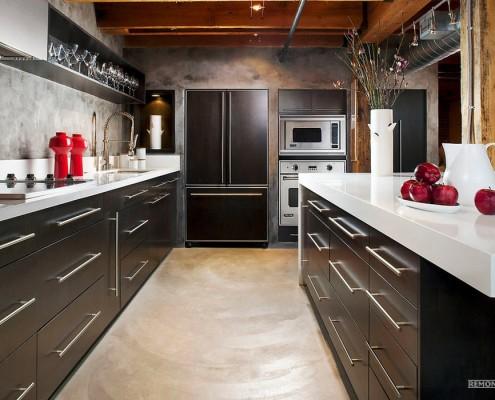 Коричневый цвет на кухне