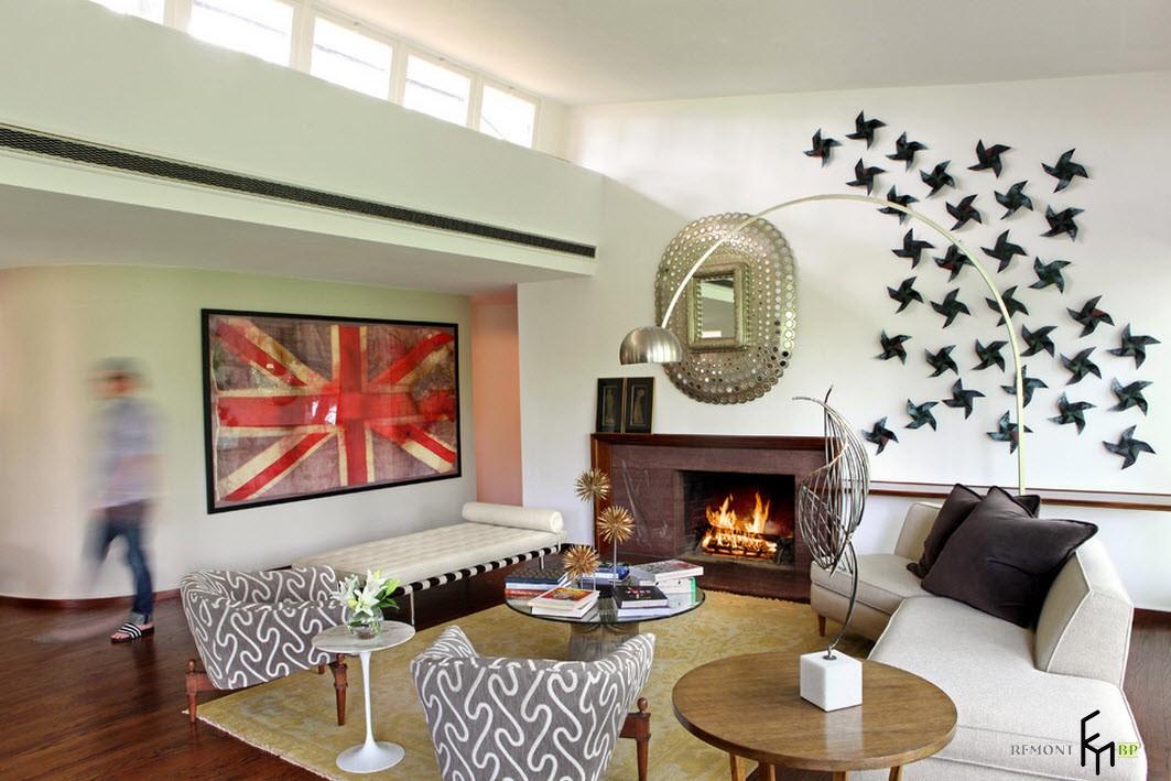 Картина с британским флагом