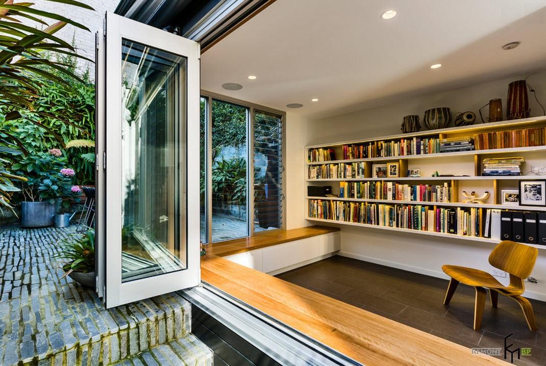 Комната - библиотека