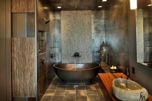 Металлические переливы в ванной