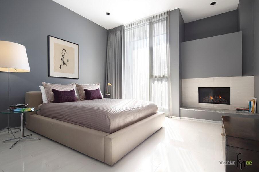 серые обои в интерьере квартиры фото