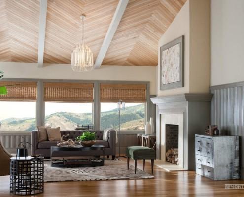 Сочетание потолка с общим дизайном интерьера