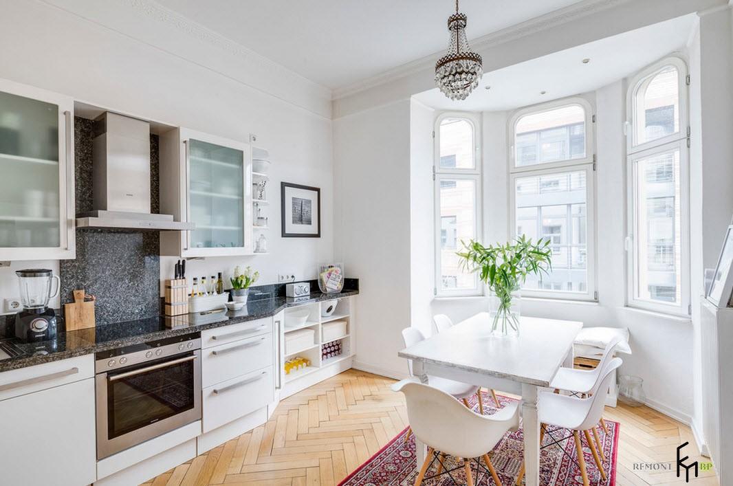 Квартира в белом цвете: дизайн проект оформления интерьера на фото