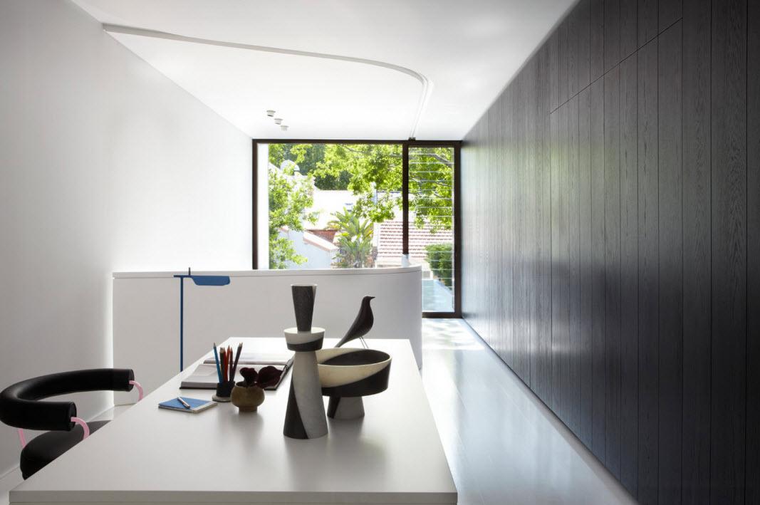 Интерьер кабинета в стиле модерн