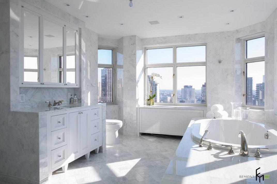 Белоснежная ванная