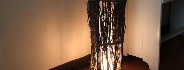 Напольная лампа готова