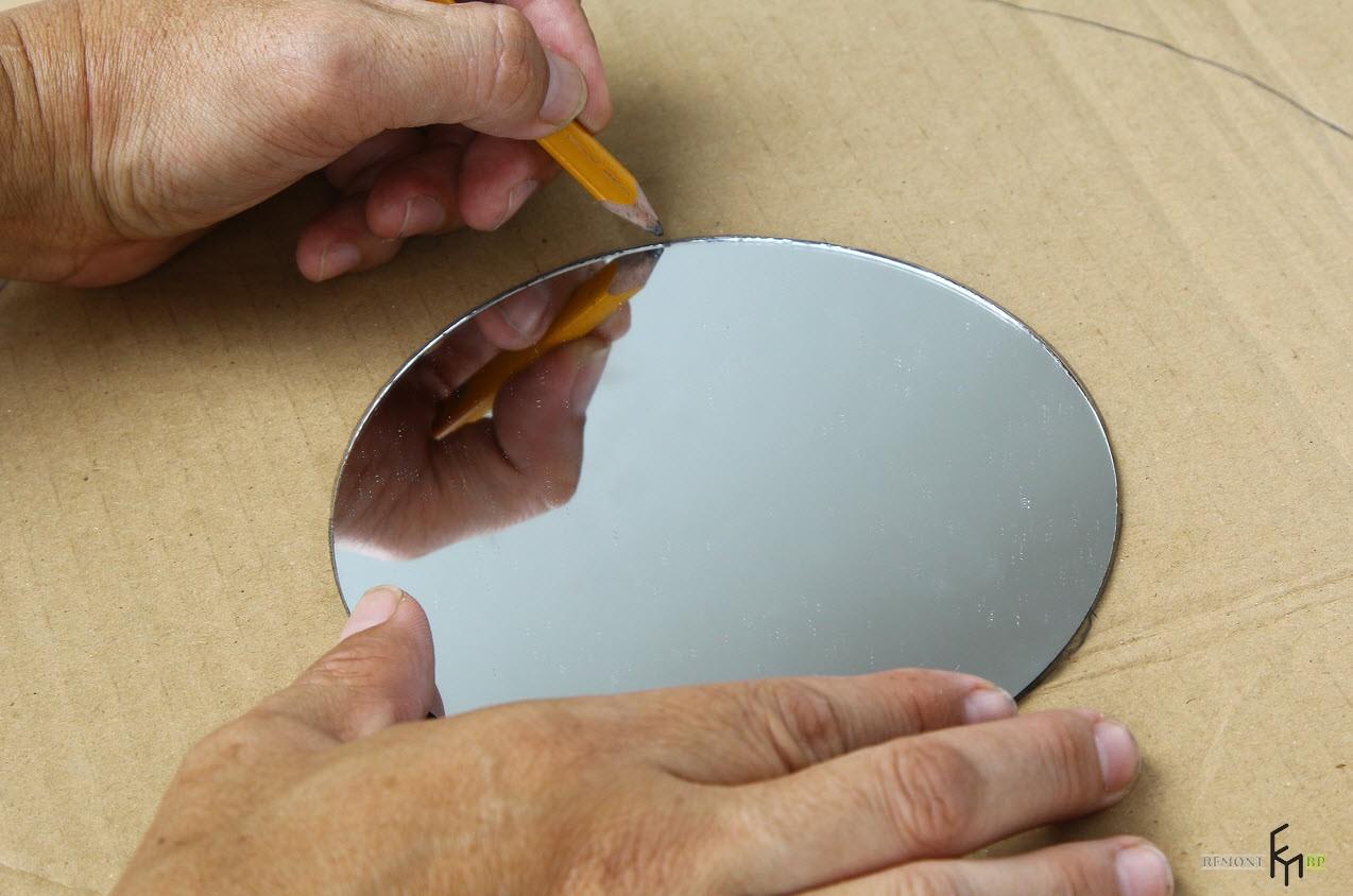 Как сделать стильную раму для небольшого зеркала своими руками