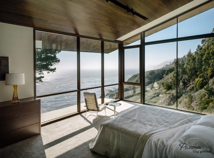 Волшебная прозрачная спальня