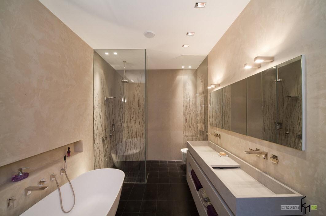 Модный дизайн ванной комнаты фото