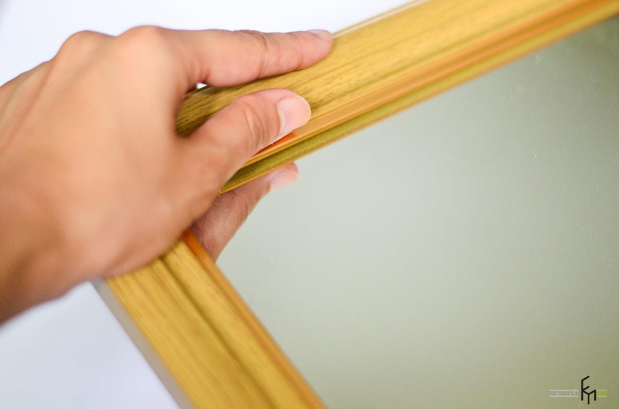 Деревянная рама для зеркала без украшений