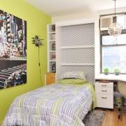 Салатовые стены в комнате