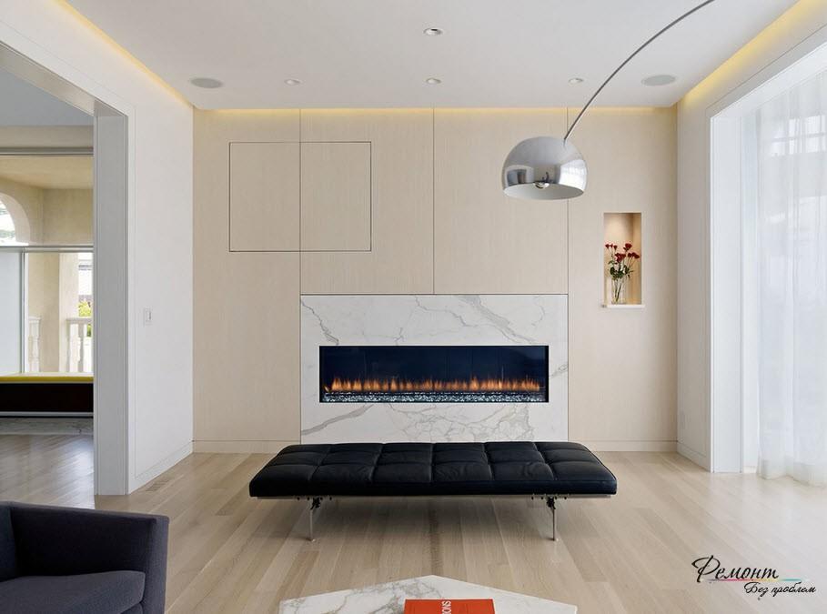 Контрастная мебель в комнате