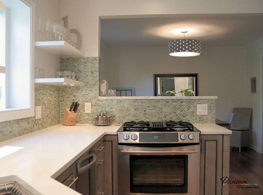 Мозаичная плитка в оформлении кухни