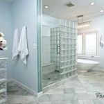 Межкомнатные перегородки из стеклоблоков в ванной