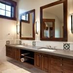 Ванная комната с зеркалом
