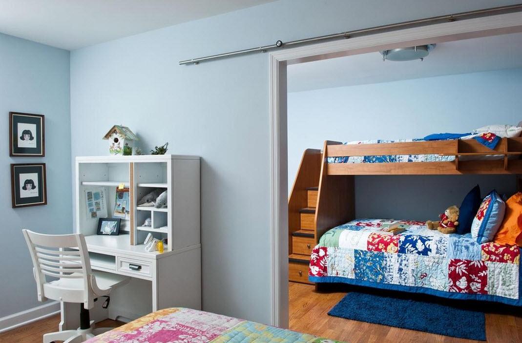 Лестница-ящики в двухъярусной кровати