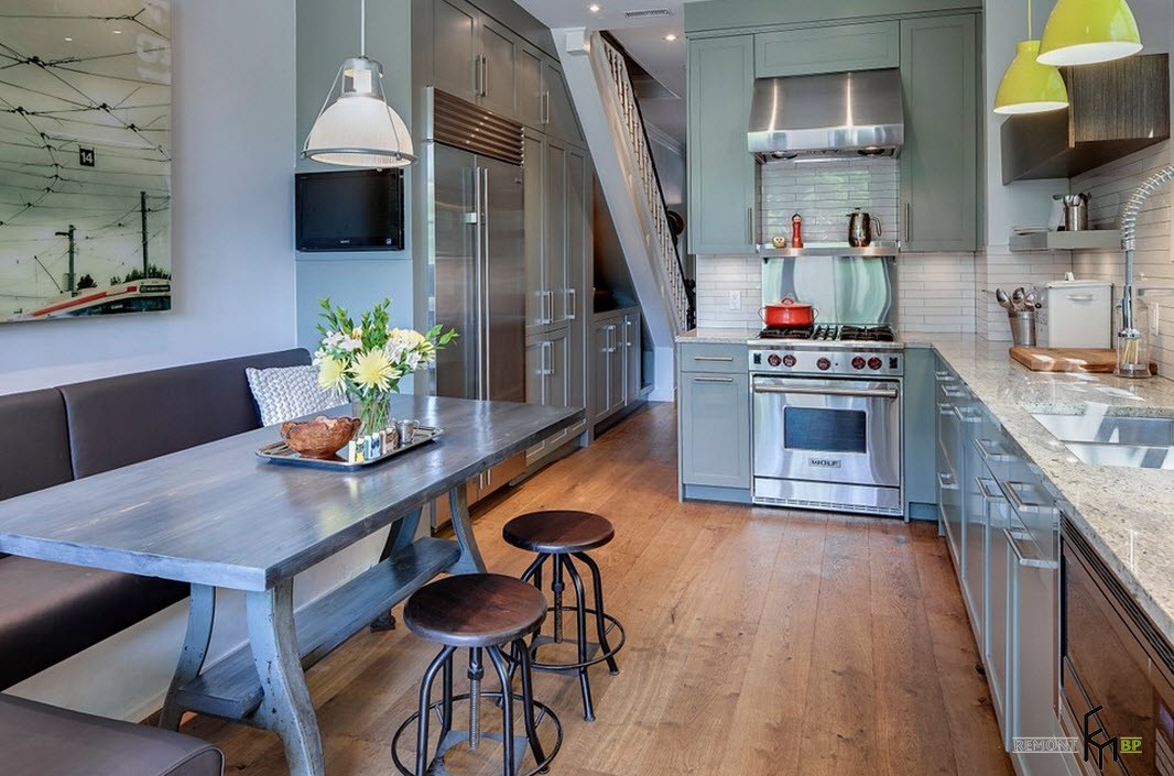 Оформление интерьера небольшой кухни