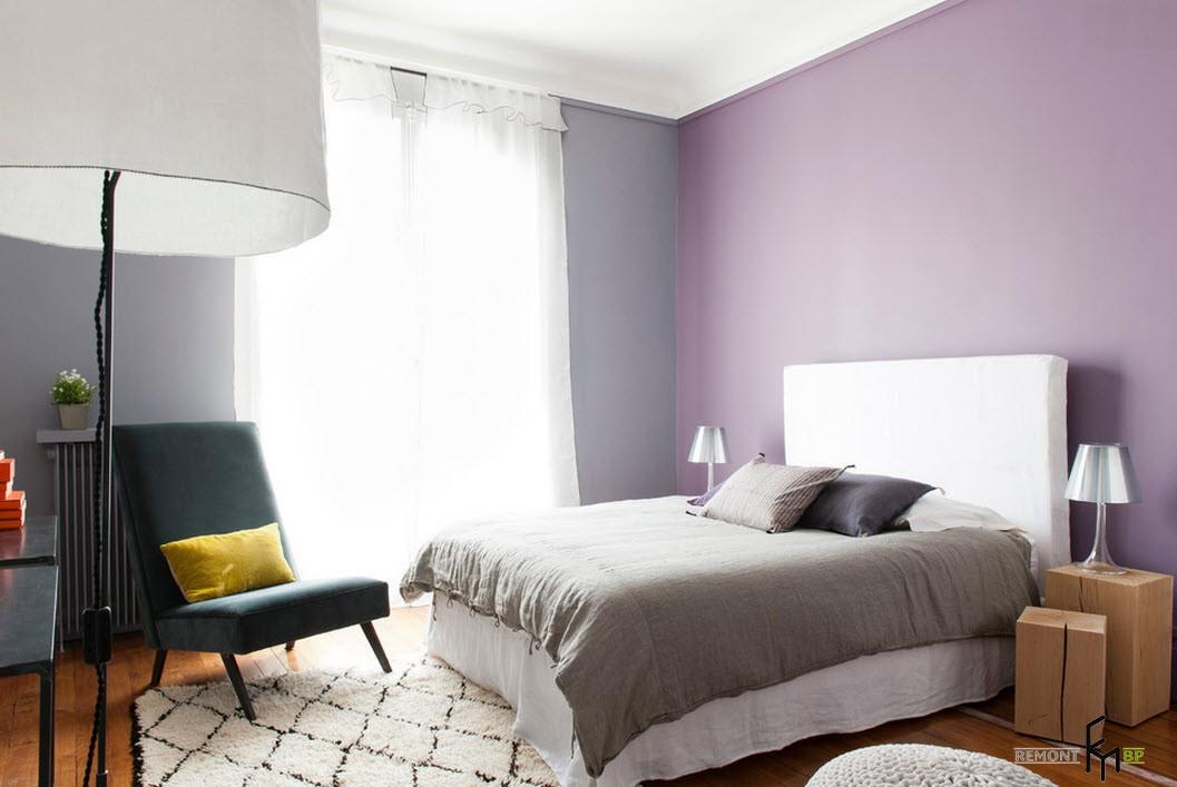 Спальня в деликатных цвета