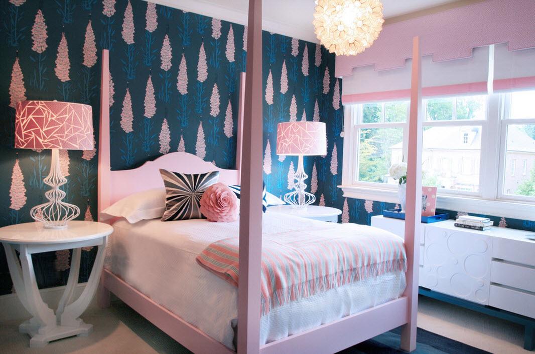 Сине-лиловая спальня