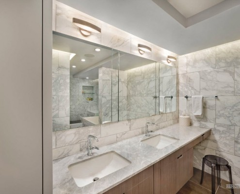 Зона раковины в ванной комнате