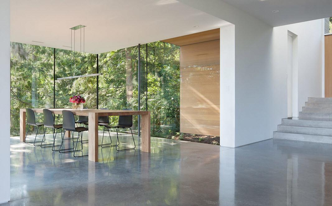 Окна столовой в стиле модерн