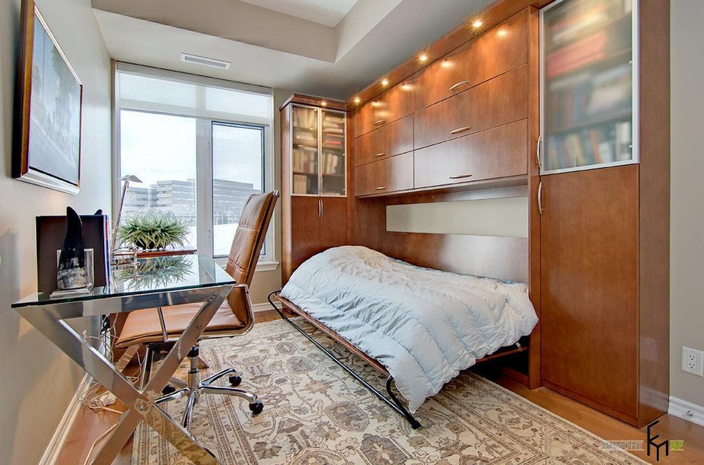 Кровать шкаф в интерьере