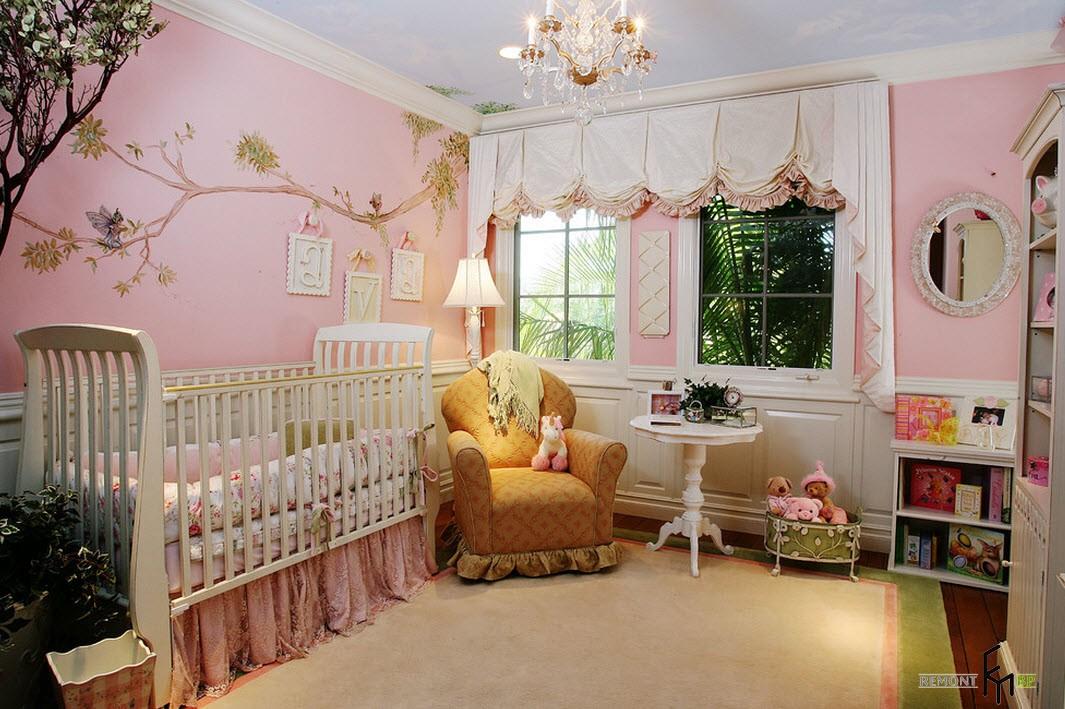 Розовая детская комната: 30 лучших идей для девочки на фото