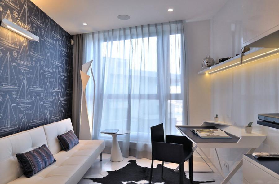Интерьер кабинета в квартире фото в современном стиле