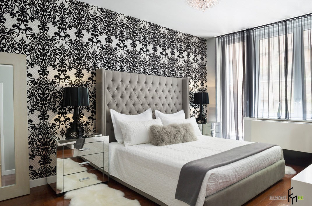 100 for Black bedroom wallpaper designs