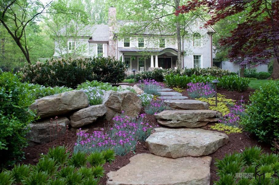 Дорожки-шажки из камня