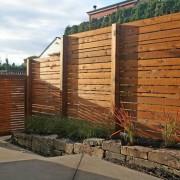 Забор из деревы