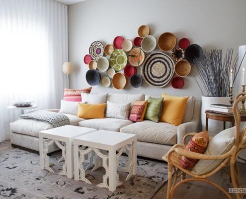 Декоративные корзинки на стене