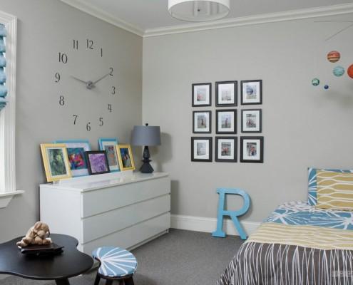 Декор стены в детской для мальчика