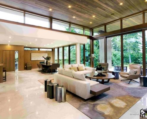 Зонирование с помощью потолочного покрытия