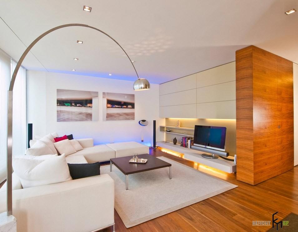 Интерьер классического зала в квартире