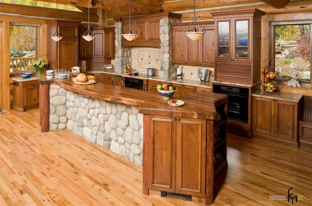 Кухня из древесины