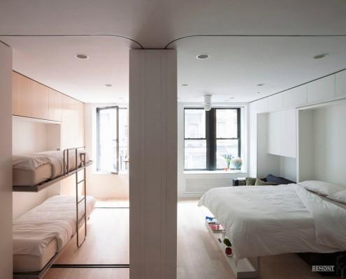 Перегородка посередине спальни