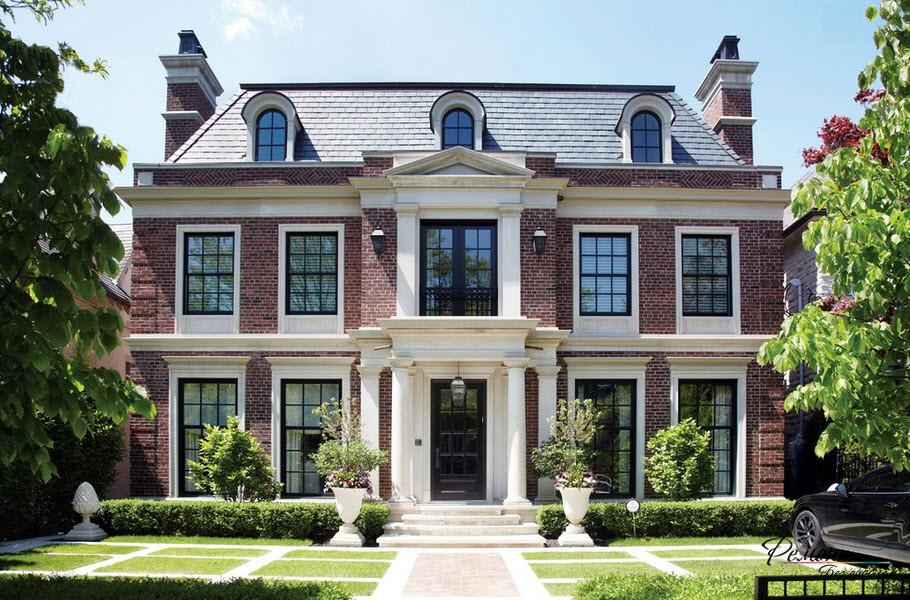 Экстерьер двухэтажного дома