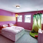 Оригинальное оформление комнаты для девочки