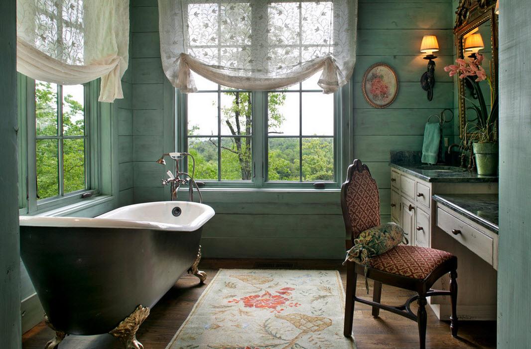 Узор на коврике в ванной