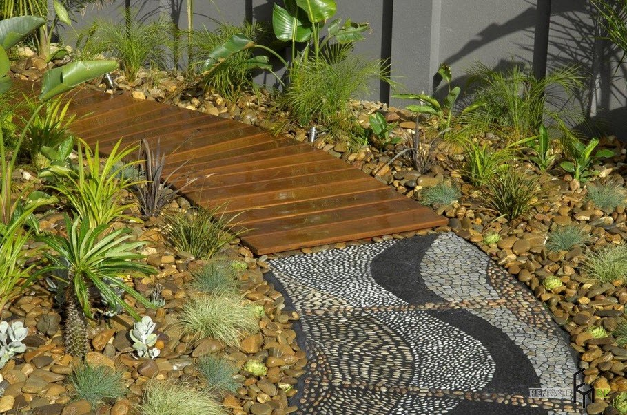 Комбинированная дорожка для сада