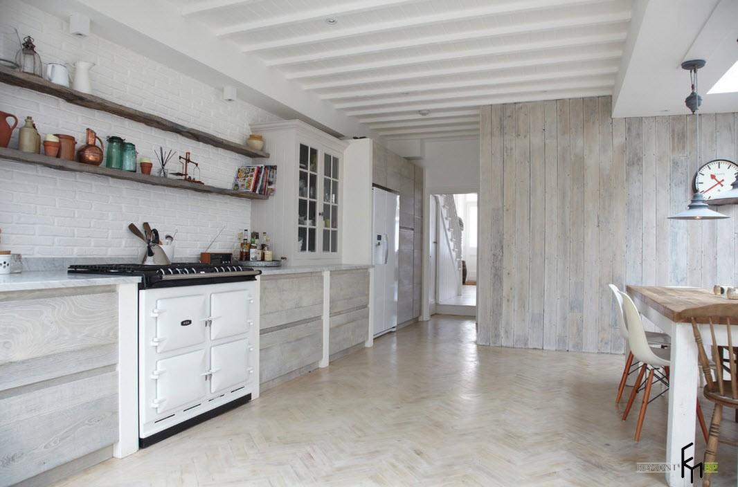 Винтажная белая кухонная плита