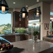 Оригинальные светильники на кухне
