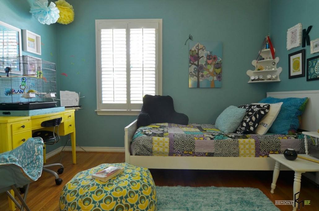 Синий и голубой цвет в детской комнате