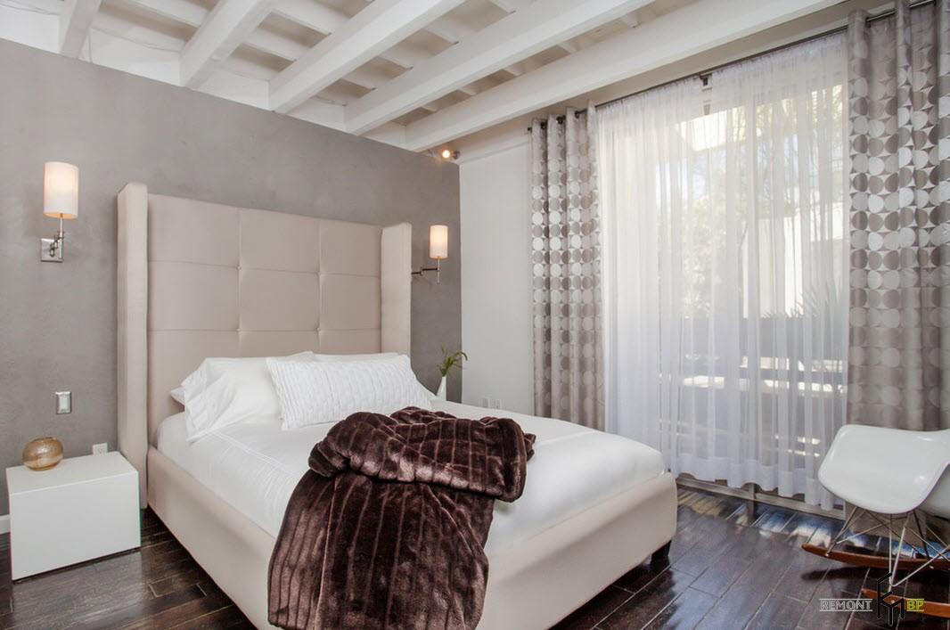 Спальня с шумопоглощающими материалами