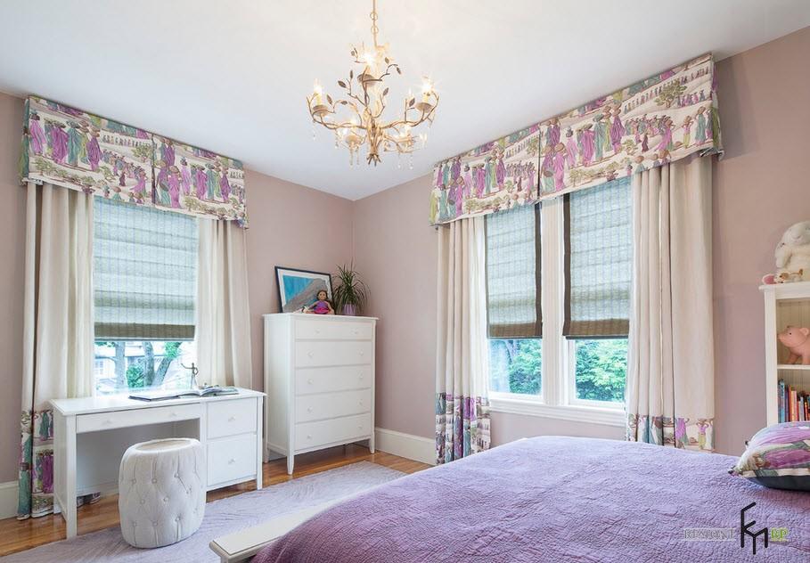 Эксклюзивные шторы в спальной комнате