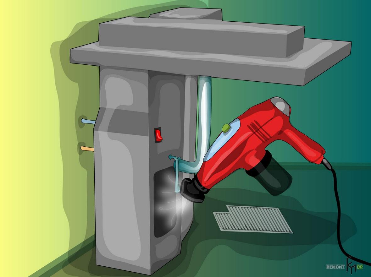 Первый способ чистки кондиционера, третий шаг