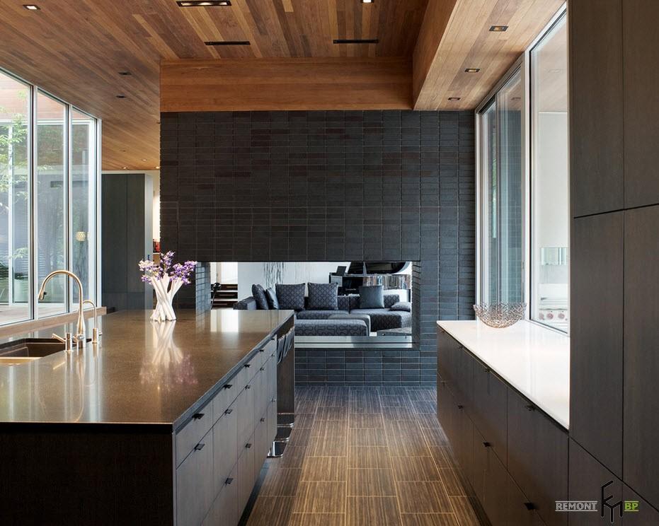Кафельная плитка в столовой